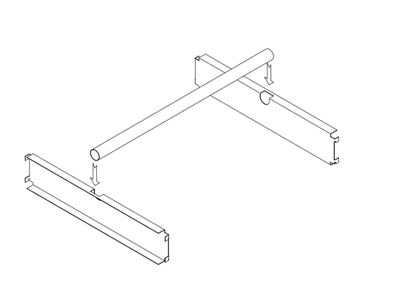 Trimline Inboard Garment Rail Assembly