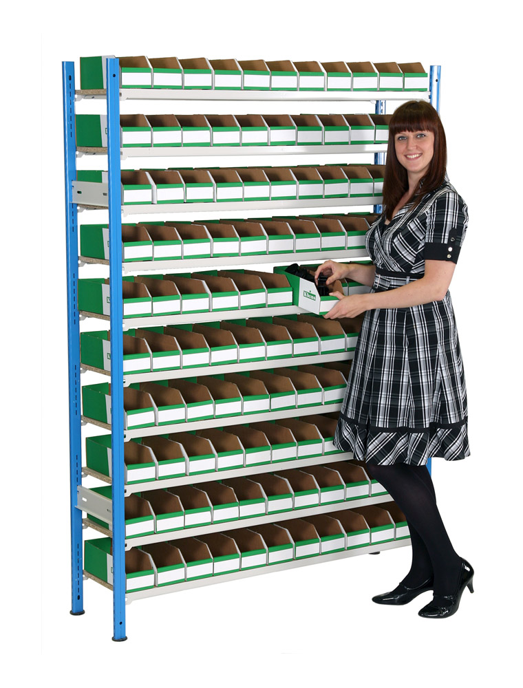 K Bin Picking Shelving - 110 Bins