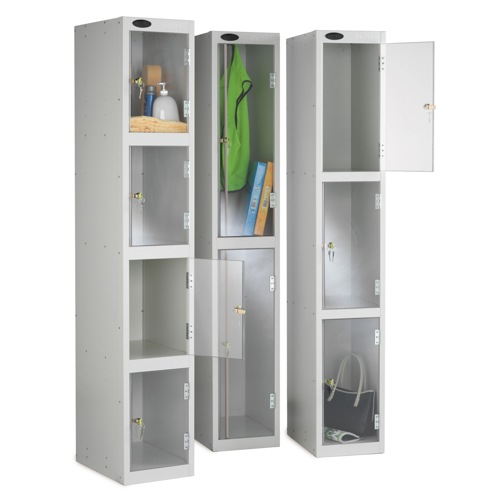 Probe Clear Door Storage Lockers