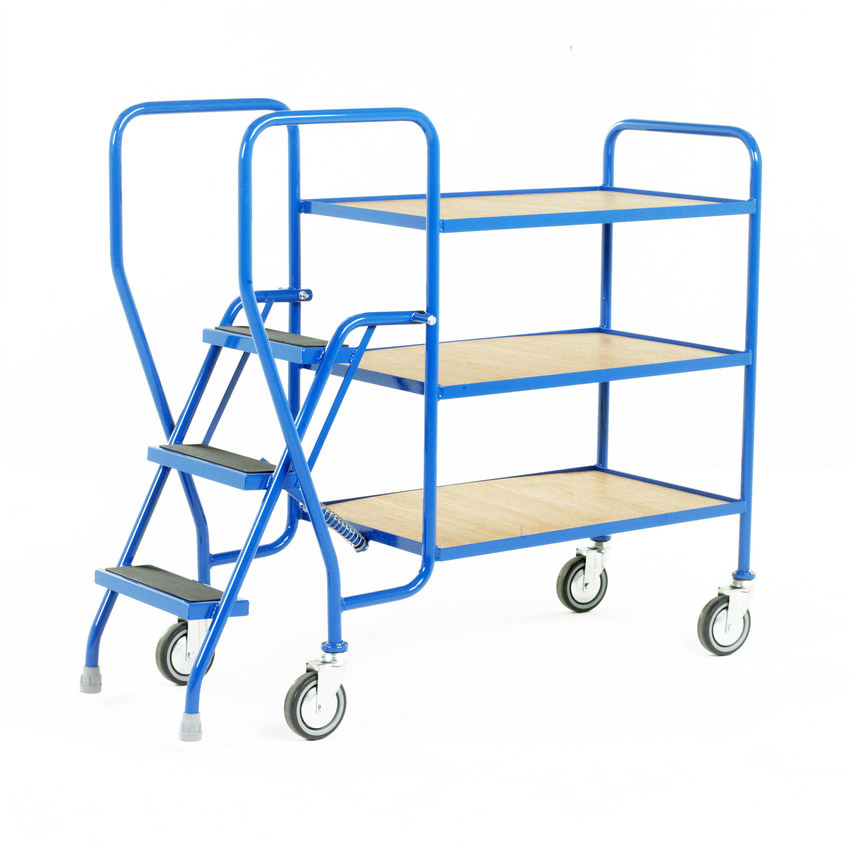 Medium Duty 3 Step Shelf Trolley