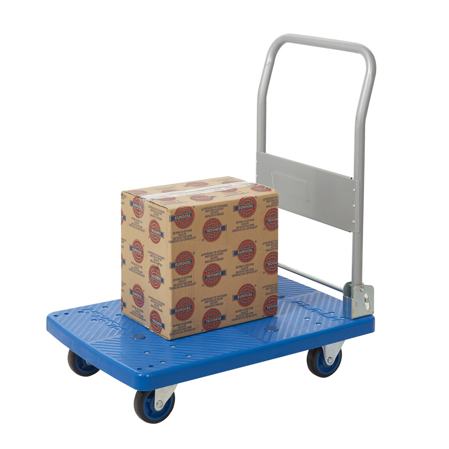 Folding Platform Trolley With Plastic Base