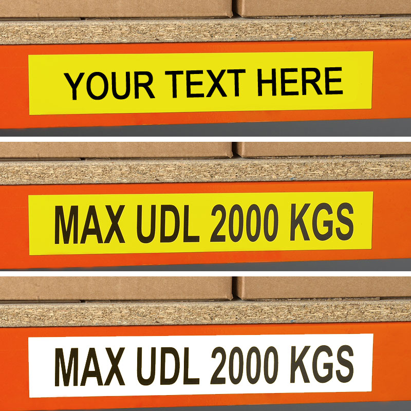 Self Adhesive Beam Load Labels (Pack of 25)