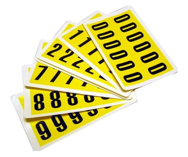Self Adhesive Numbers Pack (10 Sheets)