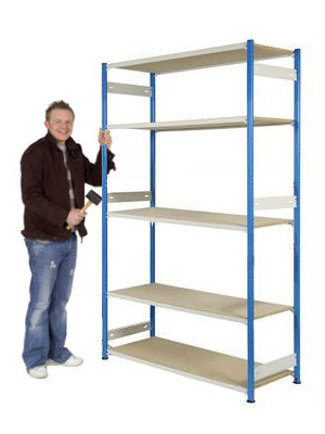Trimline Storage Shelving 2135mm High - Chipboard Shelves