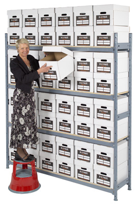 Single Depth Bulk Archive Shelving - H2135mm