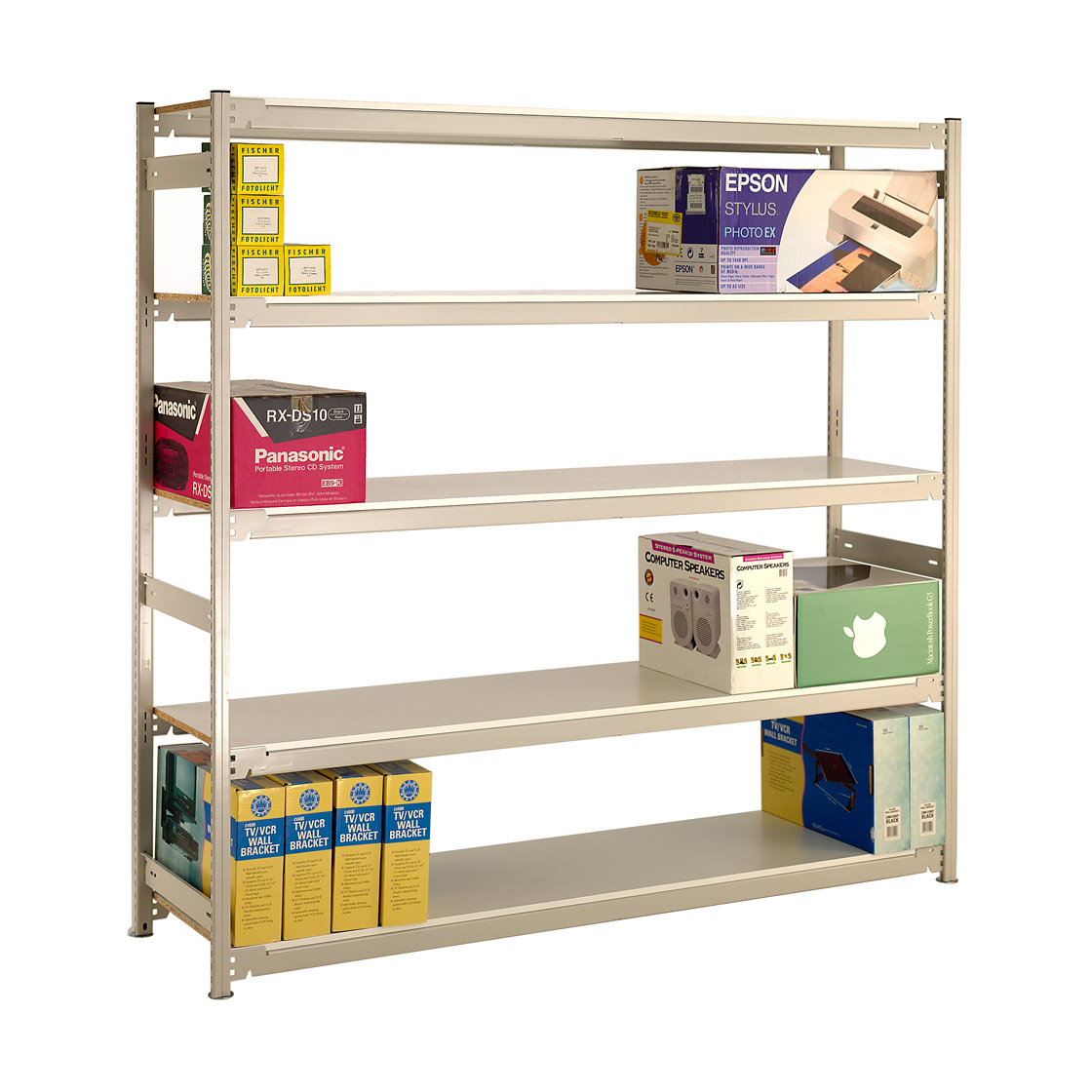 Wide Span Storage Shelving H2135mm - Melamine Shelves