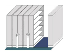 EZR High Density Mobile Shelving Units