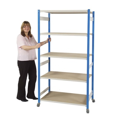 Trimline Boltless Mobile Shelving Unit