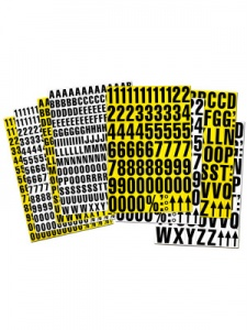 Magnetic Label Tiles (Numbers Or Letters)