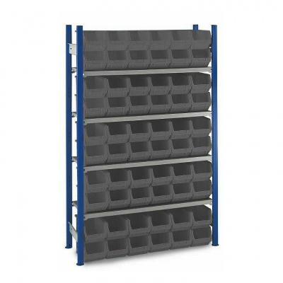 Plastic Storage Bin Shelving - Size 3 Grey