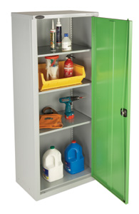 Slim Industrial Storage Cabinet - 3 Shelf