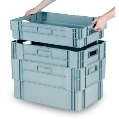 Stack & Nest Euro Containers (Pack of 2)