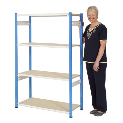 Trimline Boltless Shelving 1525mm High - Chipboard Shelves
