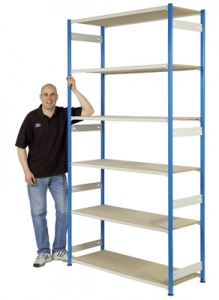 Trimline Storage Shelving 2440mm High - Chipboard Shelves