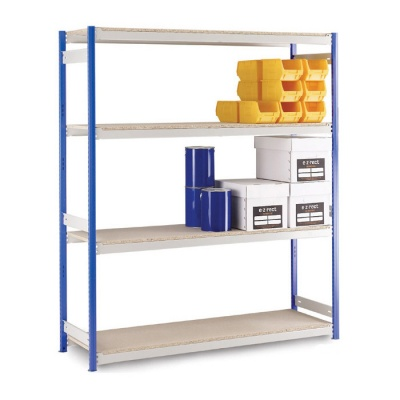 Wide Span Storage Shelving H2440mm - Chipboard Shelves