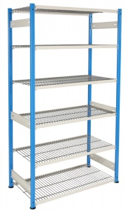 Wire Mesh Shelving Unit - 6 Shelves