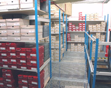 Upper level of a 2 Tier shelving system