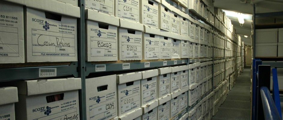 Storage shelving for thousands of archive boxes (law firm)