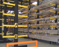 Strong cantilever arm racking