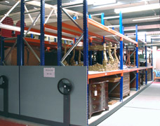 Heavy Duty Mobile Museum Shelving