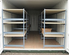 Container racking can be used for cost-effective archive storage