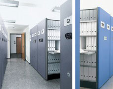Electronically Operated Mobile Storage Shelves