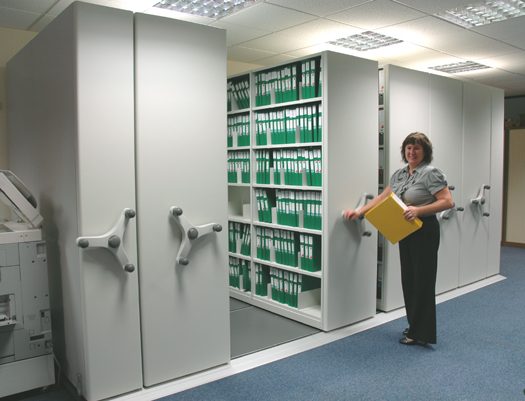 Mobile shelving for offices - Filing solutions for small spaces photos ...