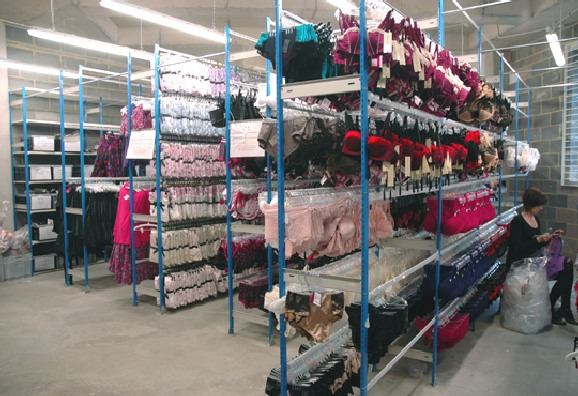 EZR Racking Units Holding Lingerie In A Retail Stockroom · Storage ...