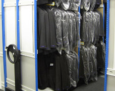 Mobile garment storage units