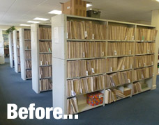 Existing medical records shelving