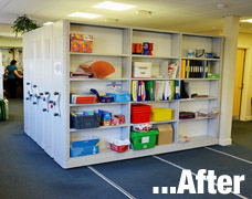 Mobile shelving for doctors surgery