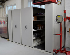 movable workshop shelving