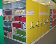 Mobile Library Storage Shelving System
