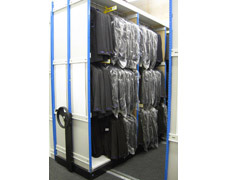 Examples of Hanging Garment Racks On Wheeled Bases