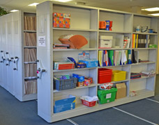 Medical Records Shelving In A Doctors Surgery
