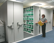 Mobile Office Shelving System