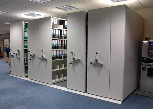 Mobile shelving filing systems high density file storage - Filing solutions for small spaces photos ...
