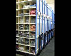 EZR Roller Pigeon Hole Racking For Retail Stock