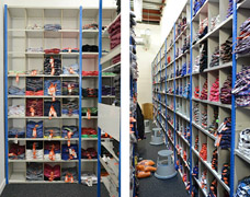 Pigeonholes for clothing storage