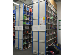 Stockroom storage soluition using pigeon holes