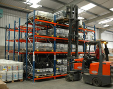 Push-Back Pallet Racking For Warehouses