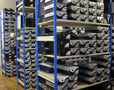 Shoe box racking solutions by EZR Shelving