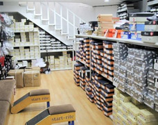 Retail display shelving using Trimline Boltless racking