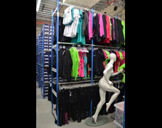 Clothing racks for sports store