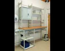 EZR Shelving Units Within A Hospital Ward