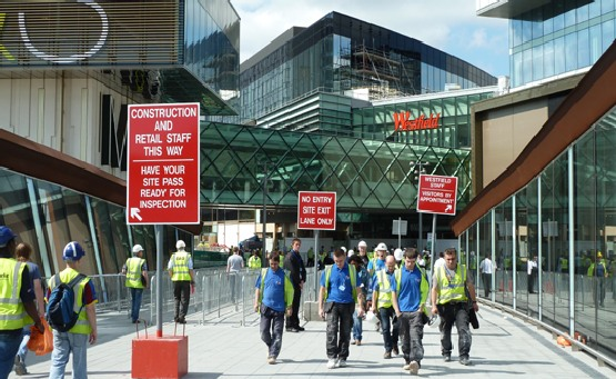 Westfield Shopping Centre Building Work